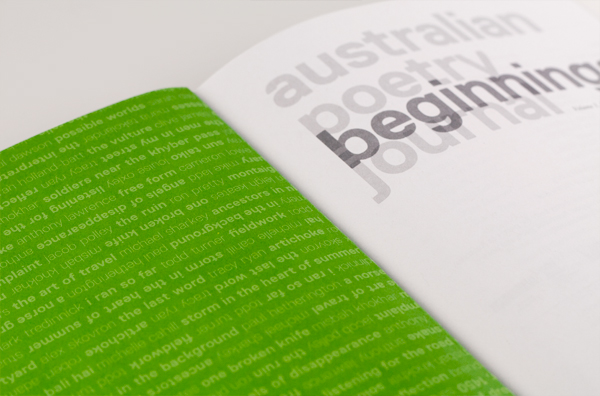 Foreword: australian poetry journal 1.1 #beginnings
