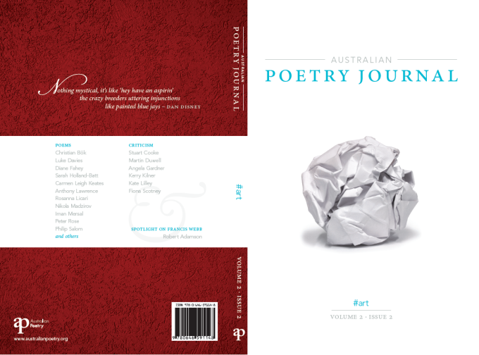 Foreword: australian poetry journal 2.2 #art